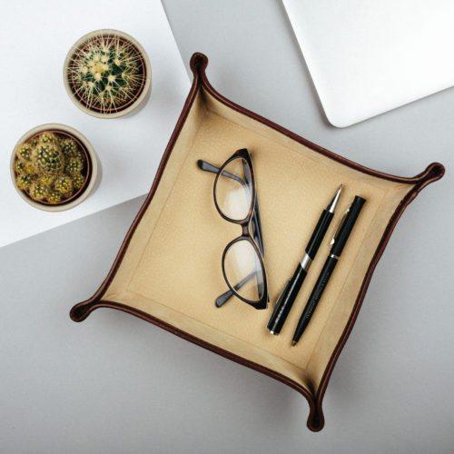 Leder Schreibtischorganizer