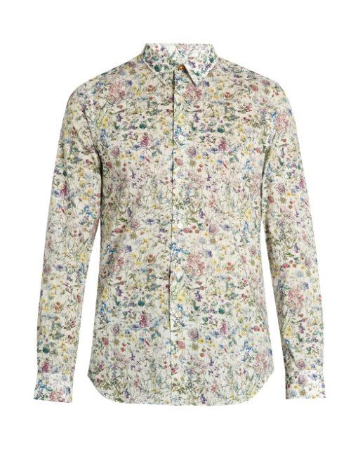 Blumenmuster Hemd